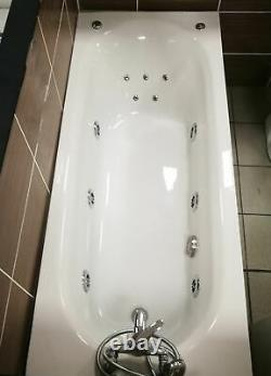 1500 1600 or 1700mm Whirlpool Jacuzzi Type Acrylic Spa Bath + Whirlpool & Light