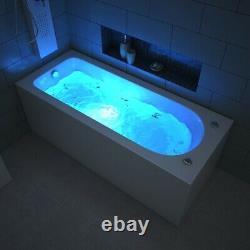 1700MM Whirlpool Jacuzzi Bathtub Acrylic Spa Bath+Light+Waste+13 Massage jets