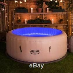 24 HR Lay Z Spa Paris Hot Tub with LED Lights 4-6 People, like Vegas, Miami