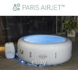 4-6 Person Luxury Lay -Z-Spa Paris Inflatable Hot Tub with Colourful LED Light