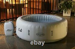 4-6 Person Luxury Lay -Z-Spa Paris Inflatable Hot Tub with Colourful LED Lights