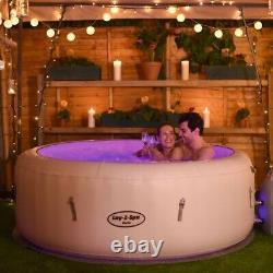 4-6 Person Luxury Lay-Z Spa Paris Inflatable Hot Tub with Colourful LED Lights