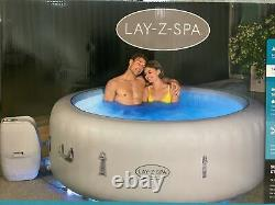 4-6 Person Luxury Lay-Z-Spa Paris Inflatable Hot Tub with Colourful LED Lights