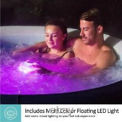 5-6 PERSON Lay-Z-Spa Saint Tropez Airjet Inflatable Hot Tub LED LIGHT