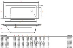 Adonis 1200x700mm 42 Sensa-jet whirlpool & spa bath with Chromotherapy Lighting
