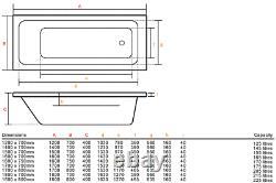 Adonis 1400x700mm 42 Sensa-jet whirlpool & spa bath with Chromotherapy Lighting
