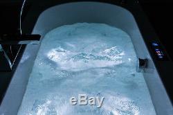Artemis 1800x1000, 36 Flush-jet whirlpool & spa bath with Chromotherapy Lighting