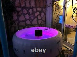 Bestway Lay-Z-Spa Paris Hot Tub with LED Lights, Remote, 87 Massage Air Jets