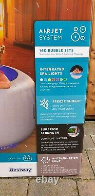 Brand NEW Lay Z Spa PARIS 4-6 Person Hot Tub LED Lights 7 Colours BIRMINGHAM