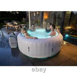 Brand NEW Lay Z Spa PARIS 4-6 Person Hot Tub LED Lights 7 Colours Lazy White