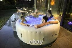 Brand New Lay Z Spa Paris 2021 Version 6 Person Hot Tub with LED Lights FREE P&P
