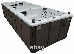 Canadian Spa St Lawrence 20 Person 73 Jet Swim Hot Tub with LED Lighting