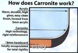 Carron Monarch 1300 x 1300 11 Jet Whirlpool Bath Jacuzzi Spa + Free LED Light