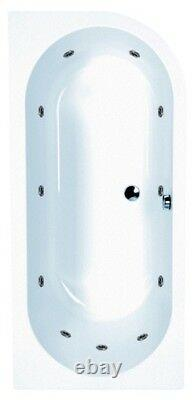 Carron Status RH 1600 11 Jet Offset Corner Style Whirlpool Spa + Free LED Light