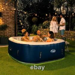 CleverSpa Belize 4-6 Person Inflatable Hot Tub LED Lights Lazy Spa FREE DELIVERY