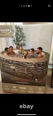 CleverSpa Sorrento 6 Person Inflatable Spa With LED Lights. Hot Tub