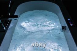 Eros 1800x800mm 35 Sensa-jet whirlpool & spa bath with Chromotherapy Lighting