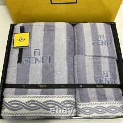FENDI Towel Set Towel Gift Zucca New Pattern Wash Light Sheets Hand Cotton Japan