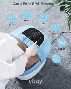 Foot Bath Spa Massager with Wireless Remote Control and 8 Electric Shiatsu Foot