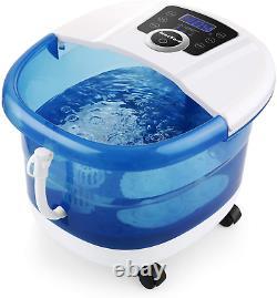 Foot Spa Bath Massager 6 in 1-Heat, Bubbles, Vibration, 4 Motorized Massage Time