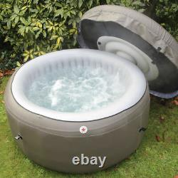 Inflatable Canadian Spa Hot Tub Jacuzzi 4 Person Brown Outdoor 750L LED Light