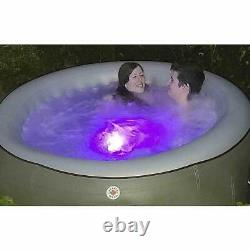 Inflatable Hot Tub Spa 4 Person Outdoor Canadian Jacuzzi 750l LED Light Brown UK