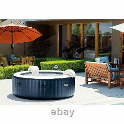Intex 75 Jet Spa 6 Person Hot Tub, Filters (3 Pack), & Multi-Colored LED Light