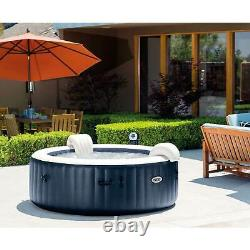 Intex Pure Spa Inflatable 4 Person Hot Tub and Battery LED Multi Color Light