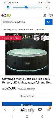 Intex Pure Spa Inflatable 6-Person Bubble Hot Tub and PureSpa Battery LED Light