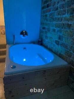 Japanese soaking bath with micro-bubbles spa, 12 air jets & chromotherapy light