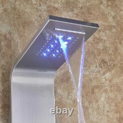 LED Light Digita Thermostatic Shower Panel Column with Massage SPA
