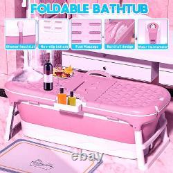 Large Portable Folding Bathtub Massage Adult Barrel SPA Temperature Display Home