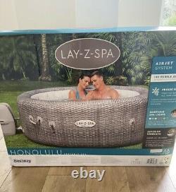 Lay Z Spa Honolulu 2021 Model 6 Person Hot Tub LED Lights New 2YR Warranty