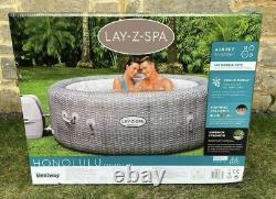 Lay Z Spa Honolulu 6 Person Hot Tub 2021 Model LED Lights Free Shipping