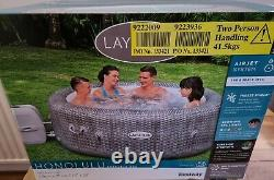 Lay-Z-Spa Honolulu 6 Person LED Lights Hot Tub Collection Plymouth Only Cash