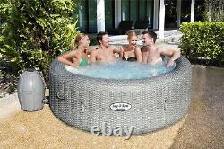 Lay-Z-Spa Honolulu AirJet 6 Person Hot Tub With LED Lights