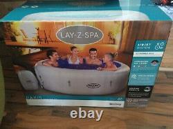 Lay-Z-Spa Lazy Spa Paris Airjet Hot Tub 6 People Led Spa Lights 2021 Model