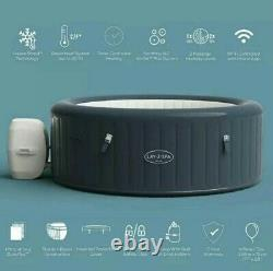 Lay-Z-Spa Milan AirJet Plus 6 Person Smart WIFI Hot Tub 2021 FREE LED LIGHT