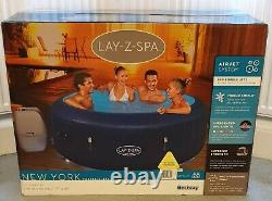 Lay-Z-Spa New YorkLED LIGHTS6 Person Hot Tub like Paris Free Delivery
