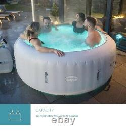 Lay Z Spa PARIS 6 Person Hot Tub LED Lights BRAND NEW IN BOX