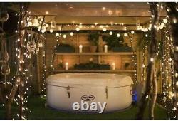 Lay Z Spa PARIS 6 Person Hot Tub LED Lights White NEW Not Miami Vegas