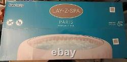 Lay-Z-Spa PARIS Brand NEW Hot Tub capacity 4-6 adults AIR JET+SPA LIGHTS