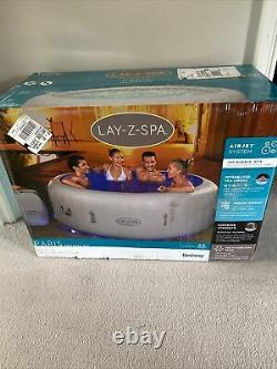 Lay Z Spa Paris 2021 6 Person Hot Tub NEW with LED Lights & Floor Protector Inc