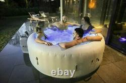 Lay -Z-Spa Paris 4-6 Person Hot Tub with Colourful Lights FREE NEXT DAY DELIVRY