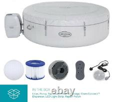 Lay-Z-Spa Paris 4-6 Person Luxury Inflatable Hot Tub with LED Lights 140 Airjets