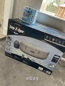 Lay-Z-Spa Paris Hot Tub -Airflow LED light WITH Spa Starter Kit& Lay-z Floor Mat