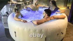 Lay-Z-Spa Paris Hot Tub Ideal 4-6 Person BUILT IN REMOTE LED LIGHTS 7 COLOURS