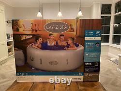 Lay-Z-Spa Paris Hot Tub Ideal 4-6 Person LED LIGHTS 2021 MODEL FREEZE SHIELD