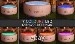 Lay-Z-Spa Paris Hot Tub, New Boxed, Air Jets, Grey, LED lights, upto 6 People