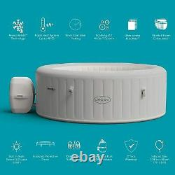 Lay-Z-Spa Paris Hot Tub with Built In LED Light System, 140 AirJet Massage